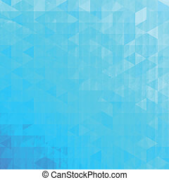 Blue abstract vector triangles background