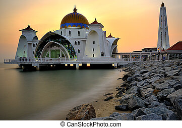 Malacca Straits Mosque - The Malacca Straits Mosque Malay:...