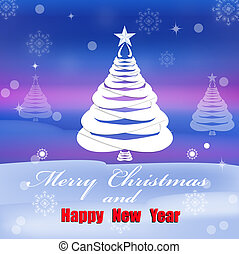 Christmas Eve - Creative New Year card. Christmas Eve