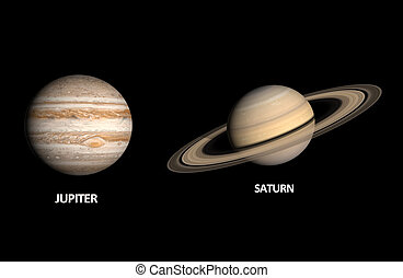 Planets Jupiter and Saturn - A comparison between the Gas...