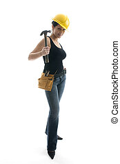 pretty sexy female young construction worker - pretty sexy...