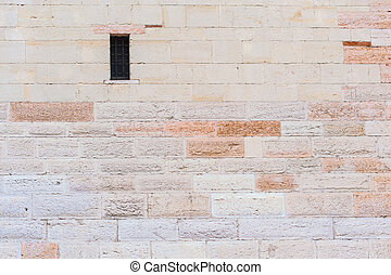 elements of the ancient walls with windows
