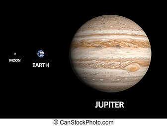 Planets Earth and Jupiter and the Moon - A comparison...