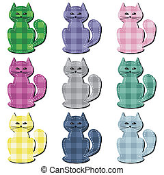 scrapbook cats on white background