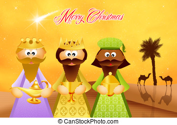 Three wise men cartoon