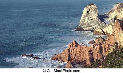 sea cliffs at cabo da roca