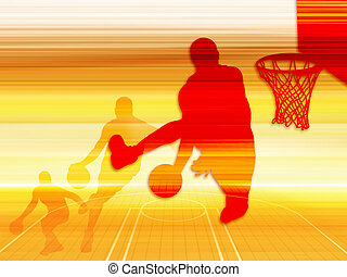 Basketball Moment - Silhouette basketball moment (background...