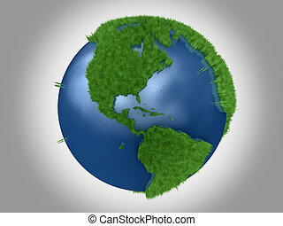 Green Planet - The American continents