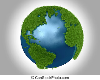 Green Planet - The Atlantic Ocean bordered by North Central...