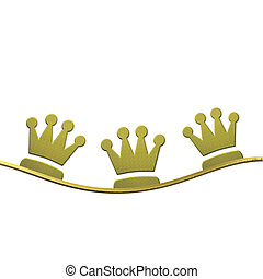 Christmas background, crowns of the Three wise men -...