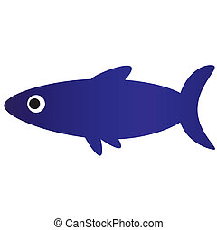 beautiful sea fish - Illustration of a beautiful blue fish