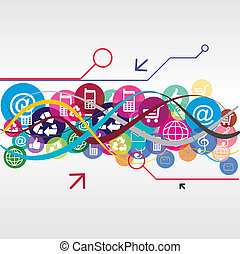 Illustration icons icons line