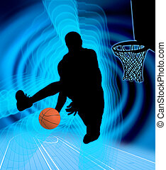 Basketball Point - Silhouette basketball point background...