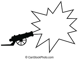 advertising gun - A gun with an exploding star, in which you...