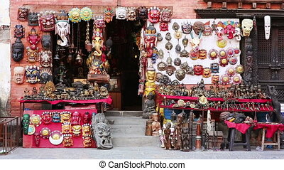 Souvenir shop exterior - Exterior of a souvenir shop in...