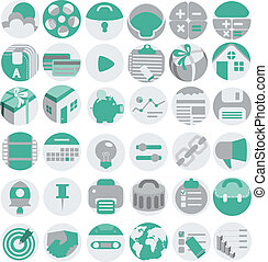 Business flat icons set, vector illustration, eps 10