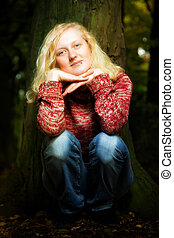Atmospheric portrait of a charismatic blond - Atmospheric...
