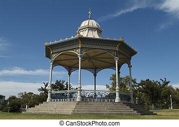 Australia, Adelaide - Pavilion in Elder Park, Adelaide,...