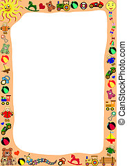 border out of toys - white background with a border out of...