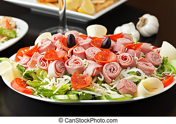 Antipasto Salad - A delicious looking tossed chefs salad or...