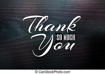 Thank You Greeting Card - Thank you greeting card design...