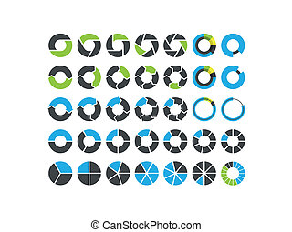 Pie charts and circular graph infog