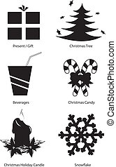 Christmas clipart vector set