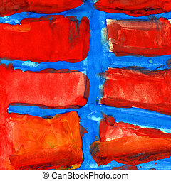 red blue abstract texture of gouache - red blue abstract...