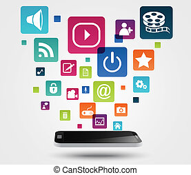 Internet application concept - Vector Illustration of...