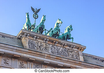 Brandenburg Gate in Berlin - Germany - BRANDENBURG GATE,...