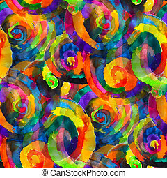 colorful watercolor circles texture dream and fantasy