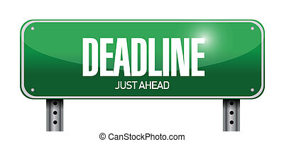 deadline road sign illustration design
