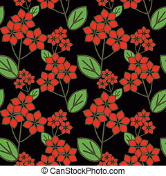 Floral pattern with decorative flowers