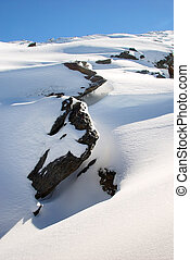 Sierra nevada landscape - Sierra Nevada Spain snow lanscape...