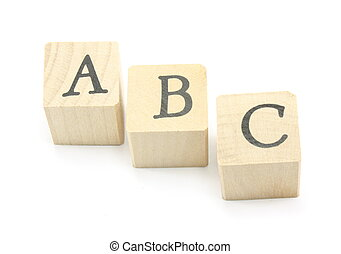 ABC Blocks - Home made blocks spell out the ABC\'s.