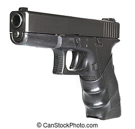 Semi-automatic handgun - Isolated semi-automatic handgun