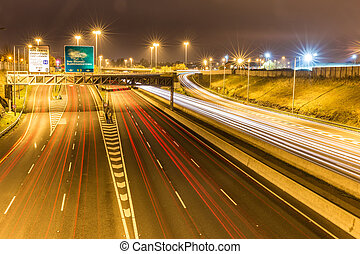 M50 motorway off and on ramp in Dublin - The M50 motorway is...