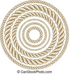 Circle ropes - Circle rope illustration vector.