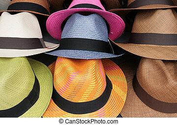 Colored Panama Hats - Colored handmade panama hats for sale...