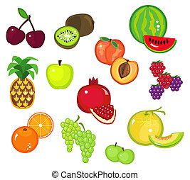 Fruits Part 2 - Clip-arts of various fruits