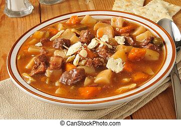 vegetal, carne, sopa