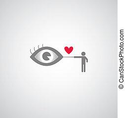 Blind men symbol on gray background