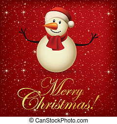 Merry Christmas - abstract merry christmas background with...
