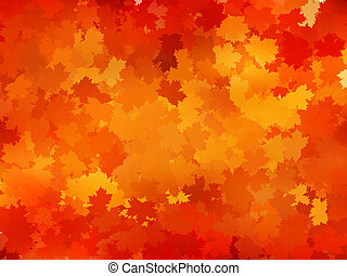 Autumnal leaf of maple and sunlight EPS 10 - Autumnal leaf...