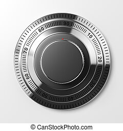 Combination lock isolated on white