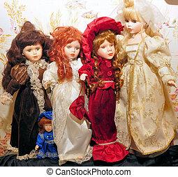 a few dolls