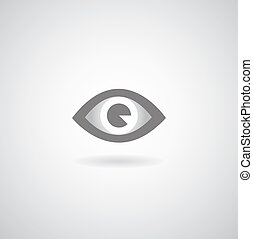 Eye symbol on gray background