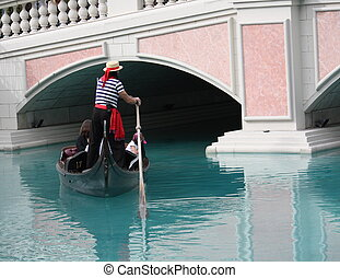 Gondola Ride - Gondola ride at Venice style hotel in Las...