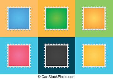 Post stamp color set - A vector post stamp color set