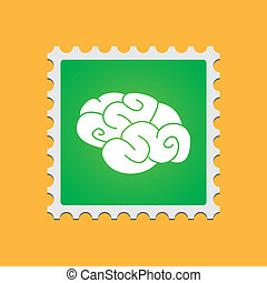 Post stamp with icon - A post stamp with an icon